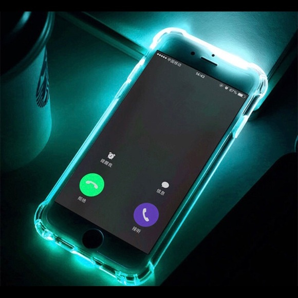 accessories led light up cell phone case for iphone 78blue poshmarkled light up cell phone case for iphone 7 8 blue